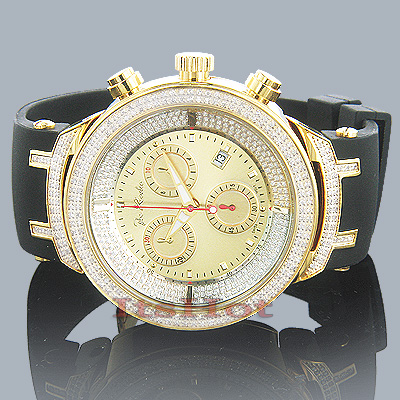 Iced Out Watches Mens Joe Rodeo Diamond Watch 2.2ct Yellow Gold Plated Master old main