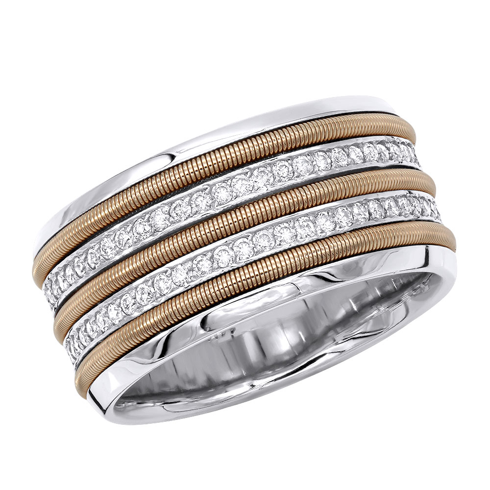 14K Gold Comfort Fit Diamond Wedding Band 1.80ct White Image