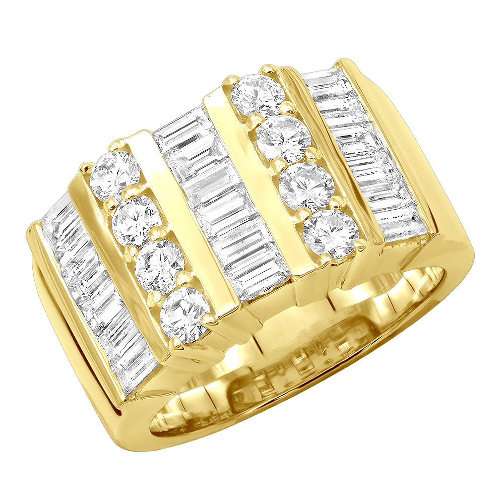 14K Gold Ladies Diamond Ring 2.60ct