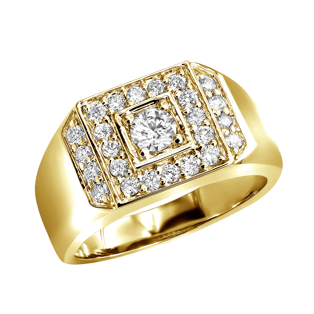 14K Gold Men's Diamond Ring 1.07ct Main Image