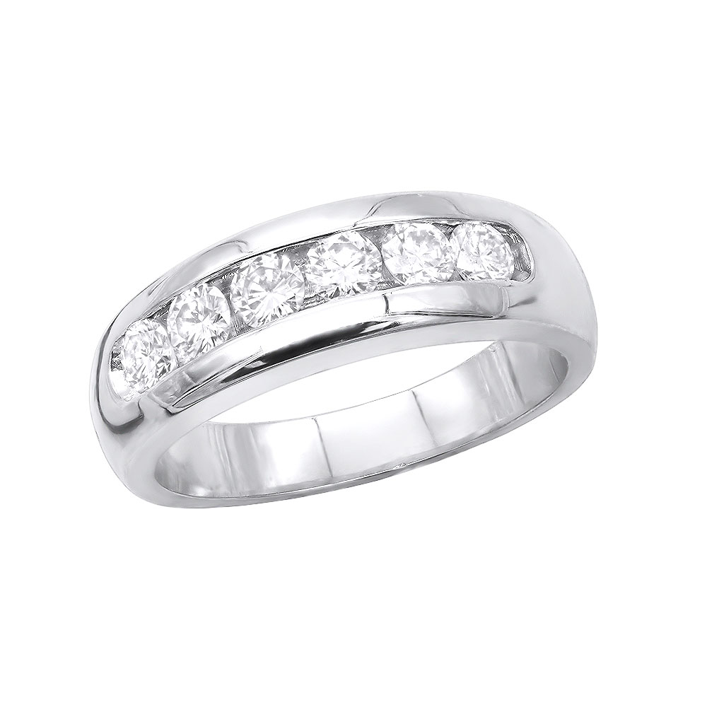 14K Gold Men's Diamond Wedding Band 0.90ct Main Image