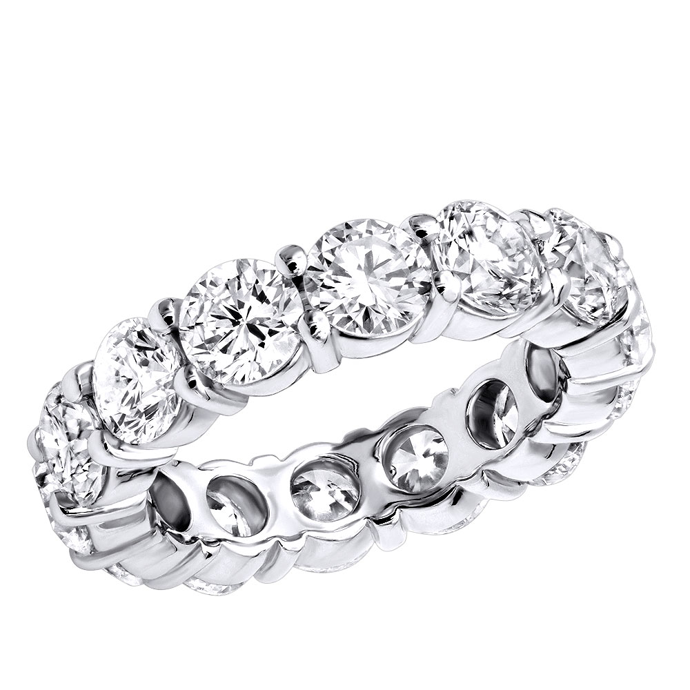 14K Gold Round Diamond Eternity Band 5.85ct Main Image
