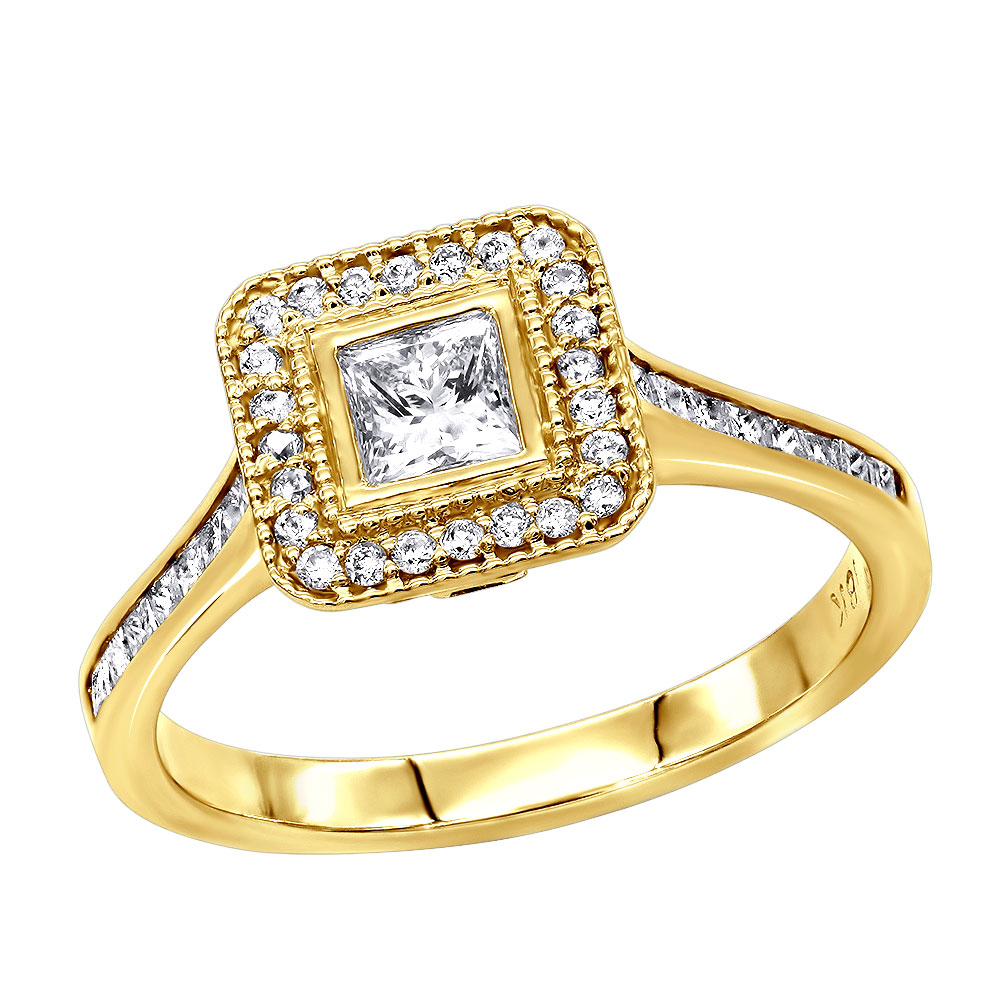 14K Gold Unique Diamond Engagement Ring 1.06ct Main Image