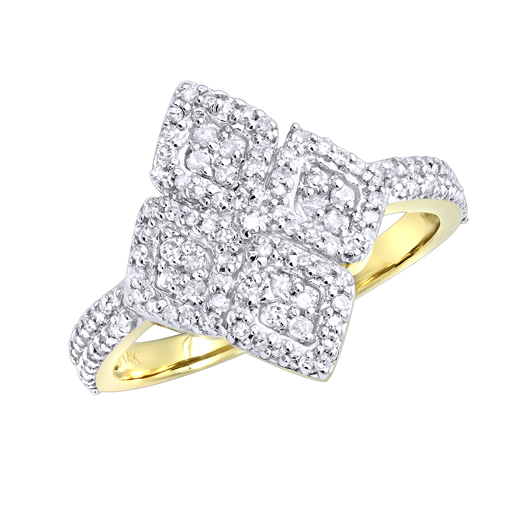 14K Gold Ladies Diamond Ring 0.48ct Yellow Image