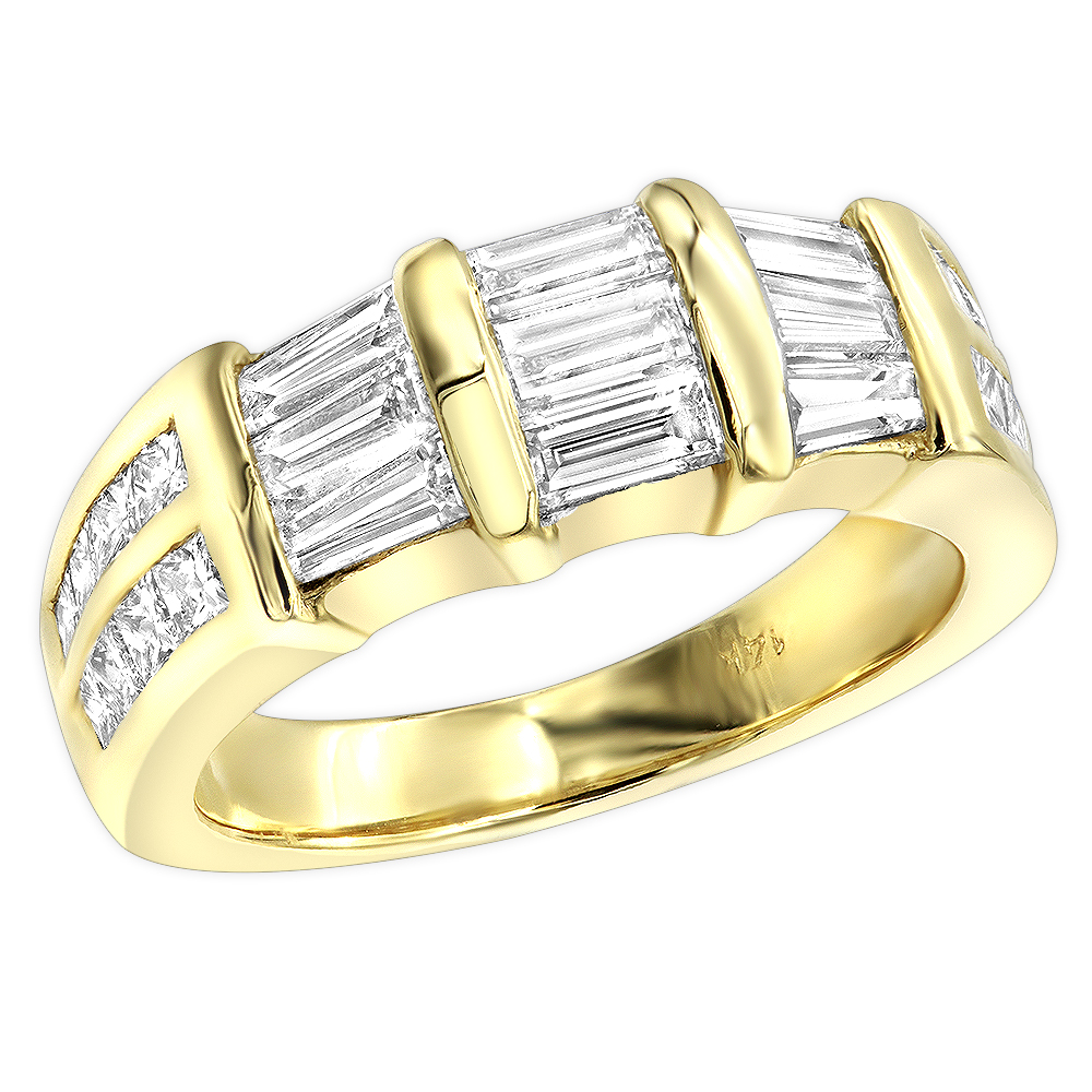 18K Gold Diamond Engagement Wedding Ring 2.22ct Main Image