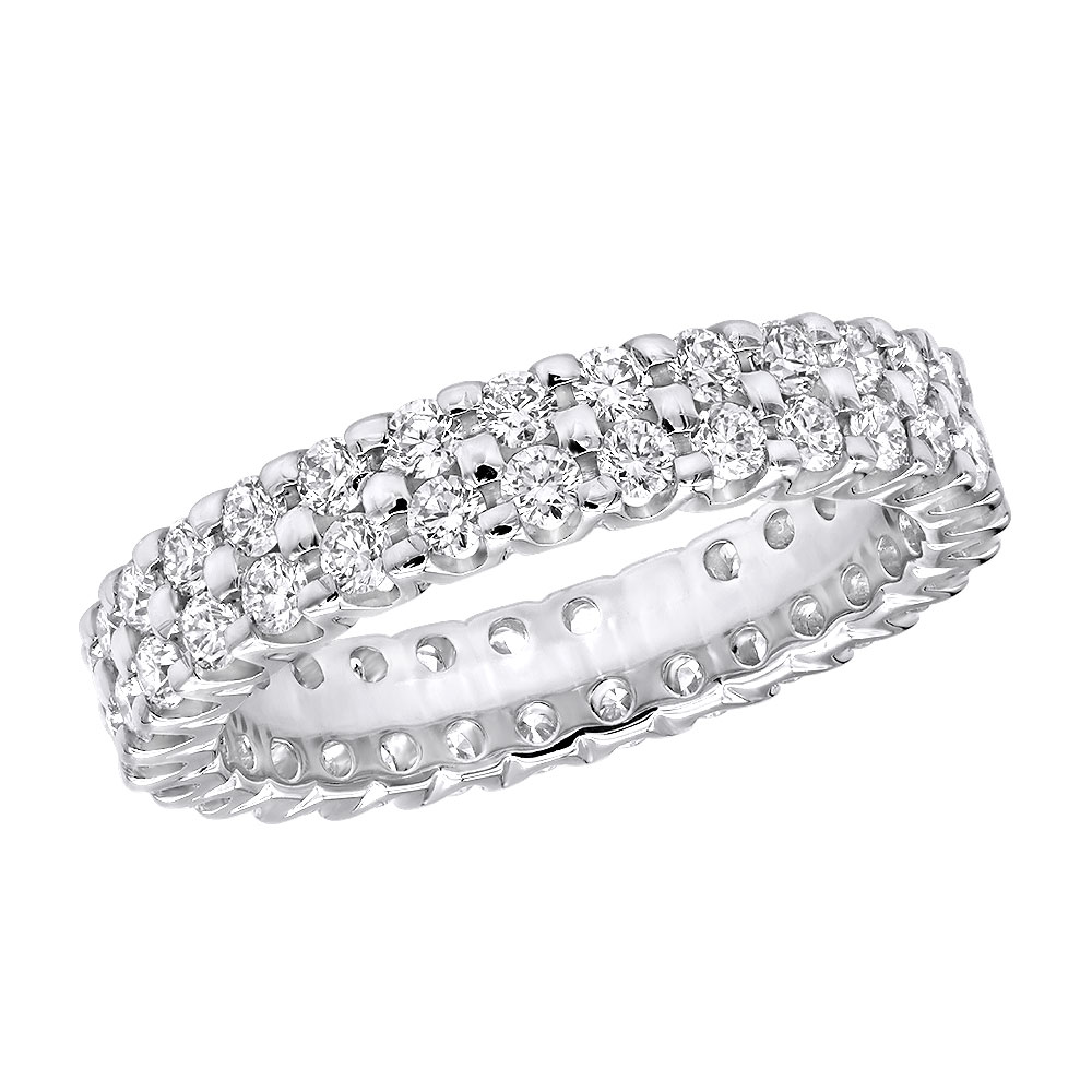 18K Gold Diamond Eternity Band 1.74ct White Image