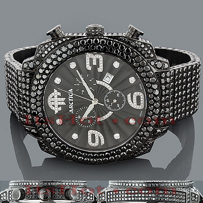 mens black diamonds watch 39 00ct arctica mens black diamonds watch 39 00ct