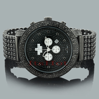 black diamond watches ice time crown mens watch 14ct. Black Bedroom Furniture Sets. Home Design Ideas