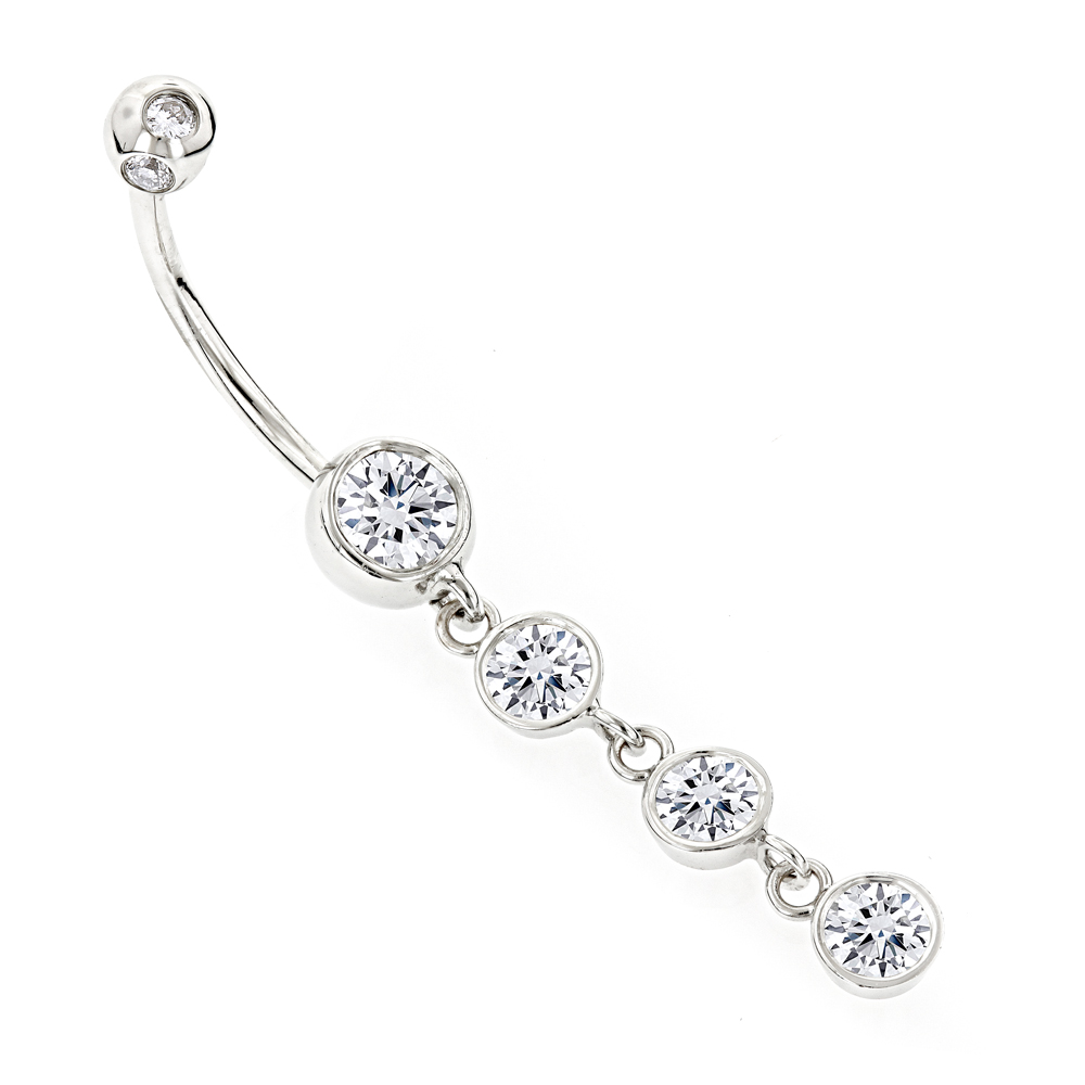 dangling belly button ring gold and diamonds. Black Bedroom Furniture Sets. Home Design Ideas