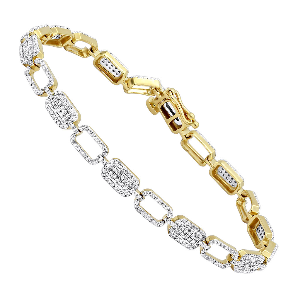 Diamond Bracelets 14K Gold Ladies Diamond Bracelet 1.93 Yellow Image