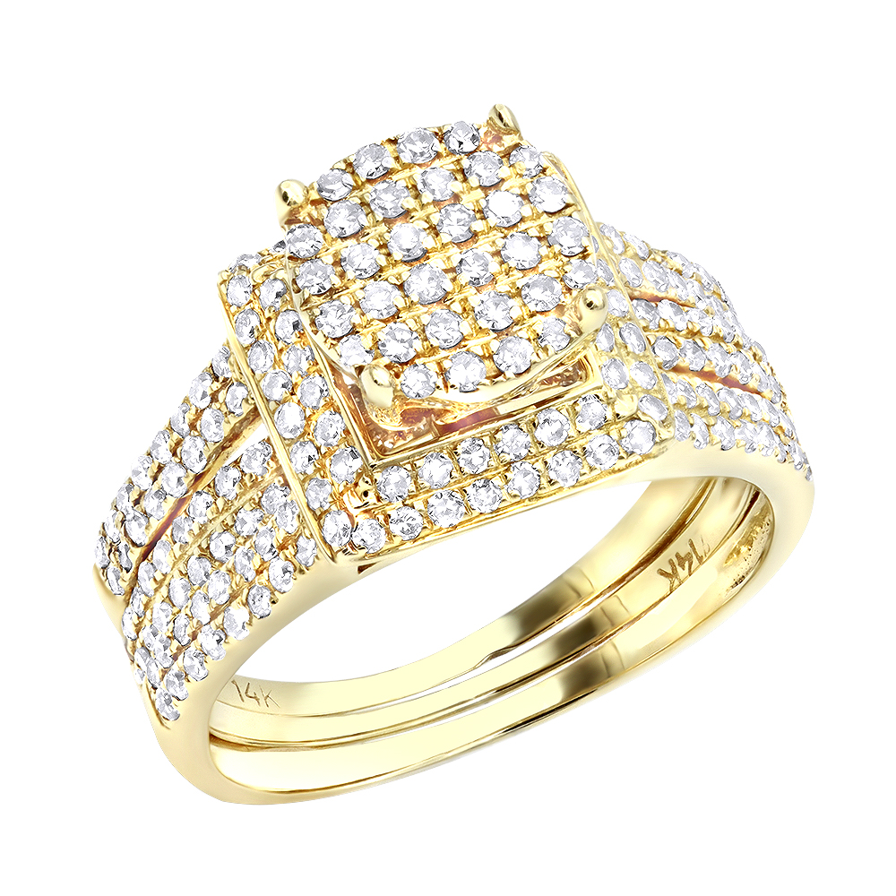 Affordable 1 Carat Diamond Engagement Ring Set in 14K Gold Yellow Image