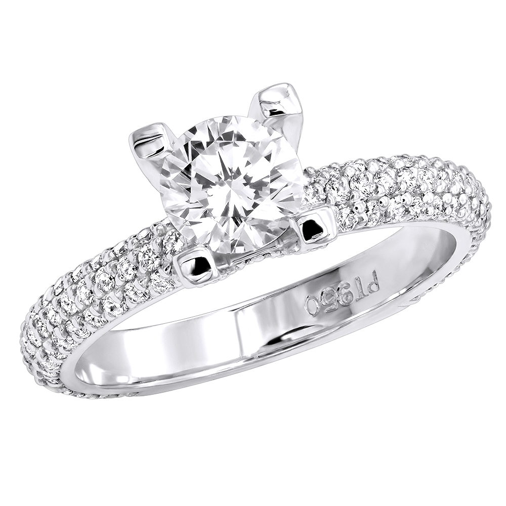 Diamond Platinum Engagement Ring 1.86ct Main Image