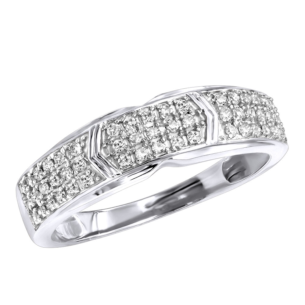 Diamond Wedding Ring For Women 0.55ct 14k Gold Ladies Diamond Band White Image