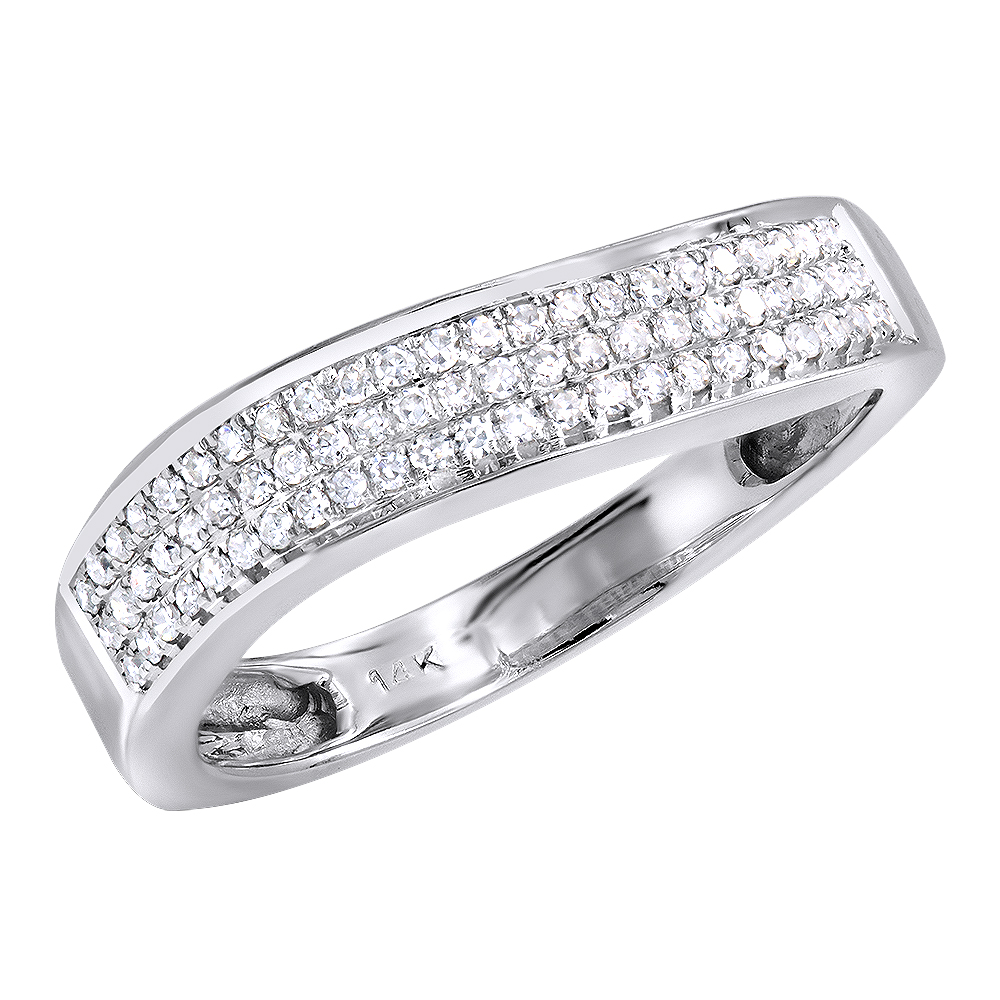 Ladies Pave Diamond Band 0.23ct 10K Gold  White Image
