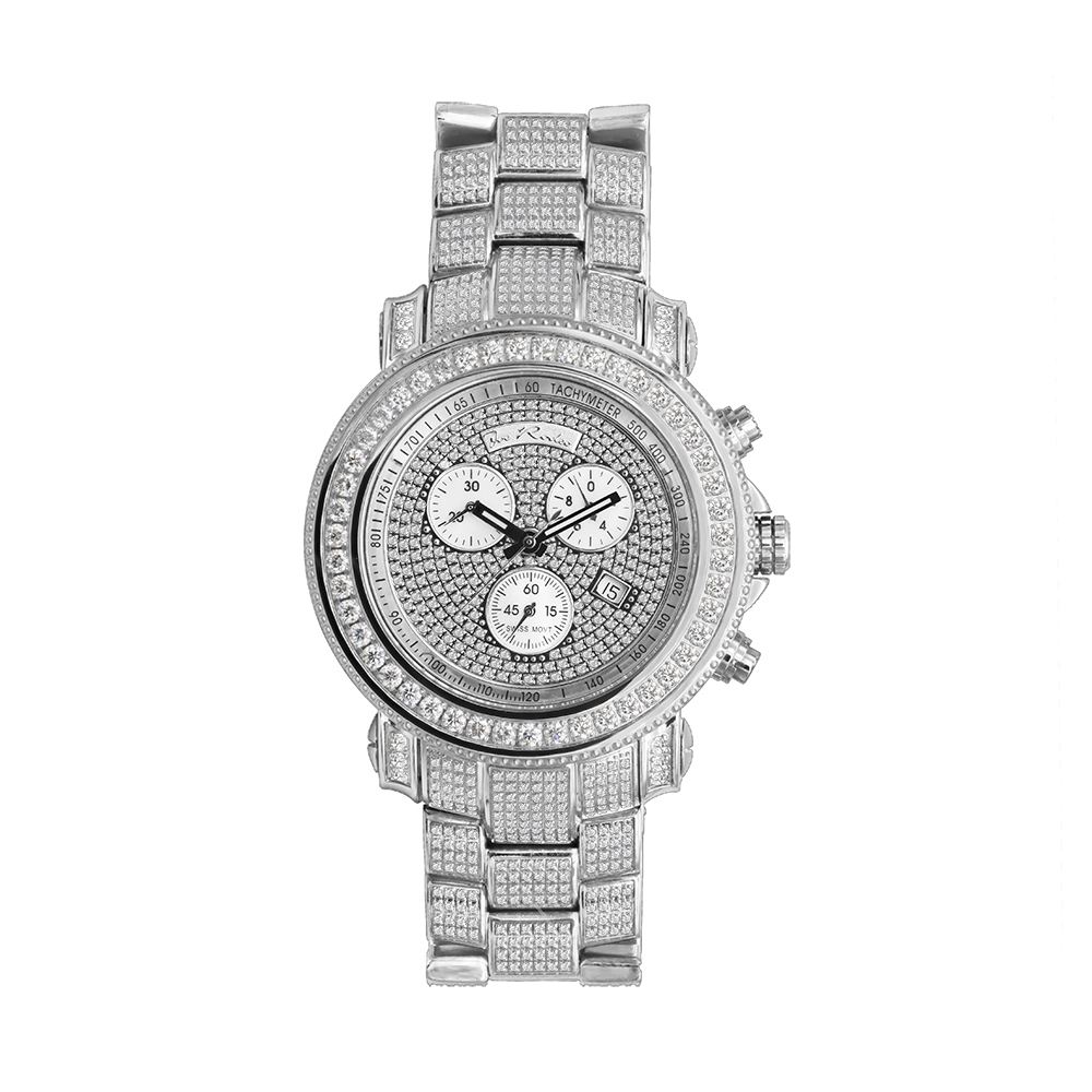 Fully Iced Out Diamond Watch for Men 17ct 48mm Case Large Joe Rodeo Junior Main Image