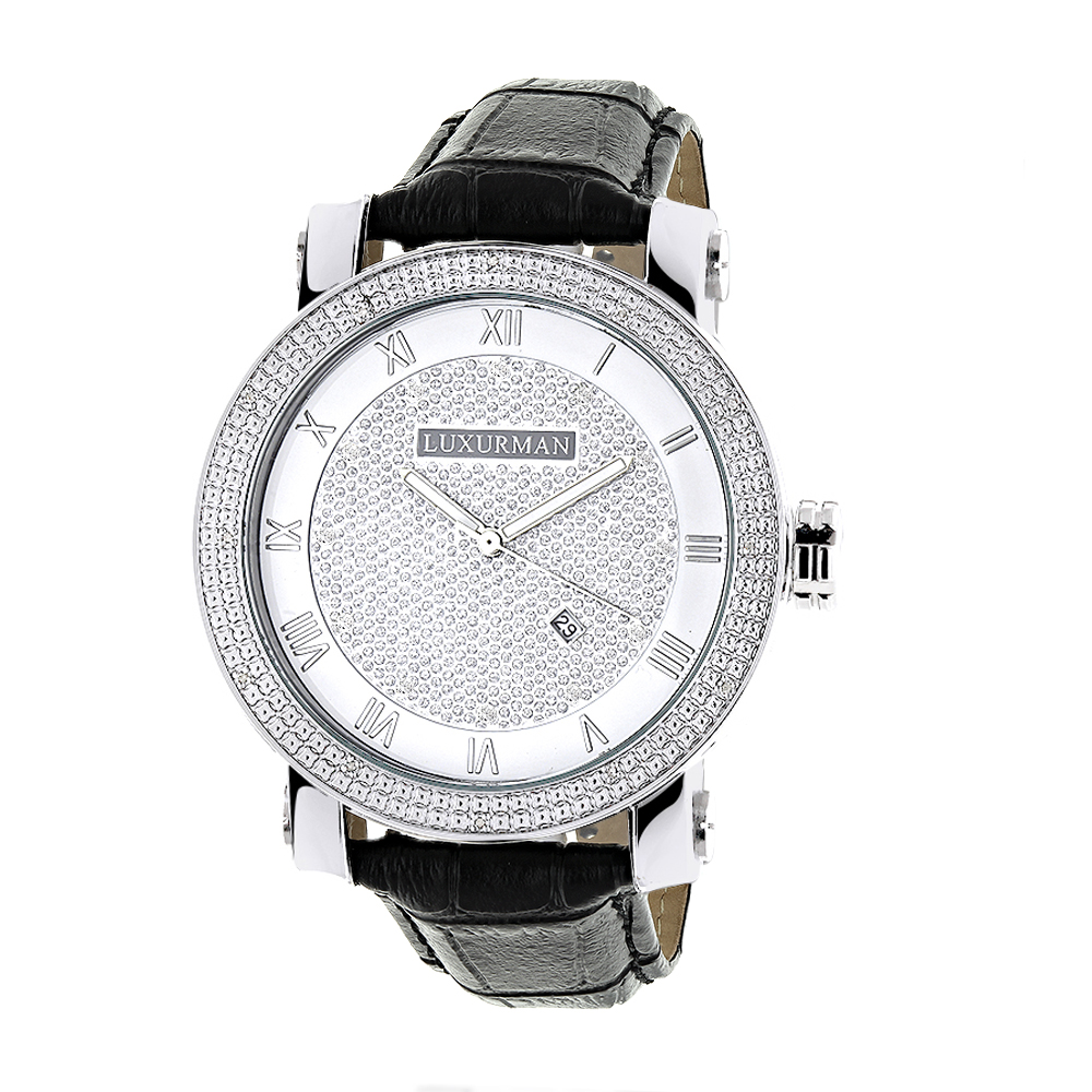 luxurman diamond watches mens vs diamond watch 18ct. Black Bedroom Furniture Sets. Home Design Ideas