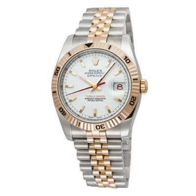 mens rolex oyster two tone perpetual datejust watch