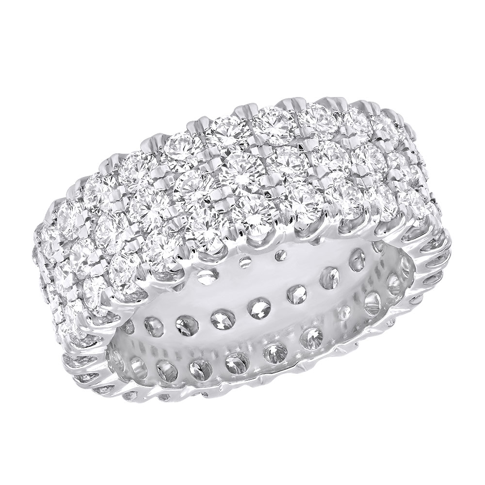 Platinum Diamond Eternity Band 4.83ct White Image