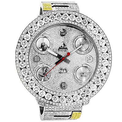 Jacob And Co Watches: Five Time Zone Mens Diamond Watch 34ct Main Image