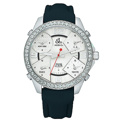 Jacob & Co Five Time Zone 47mm Diamond Watch