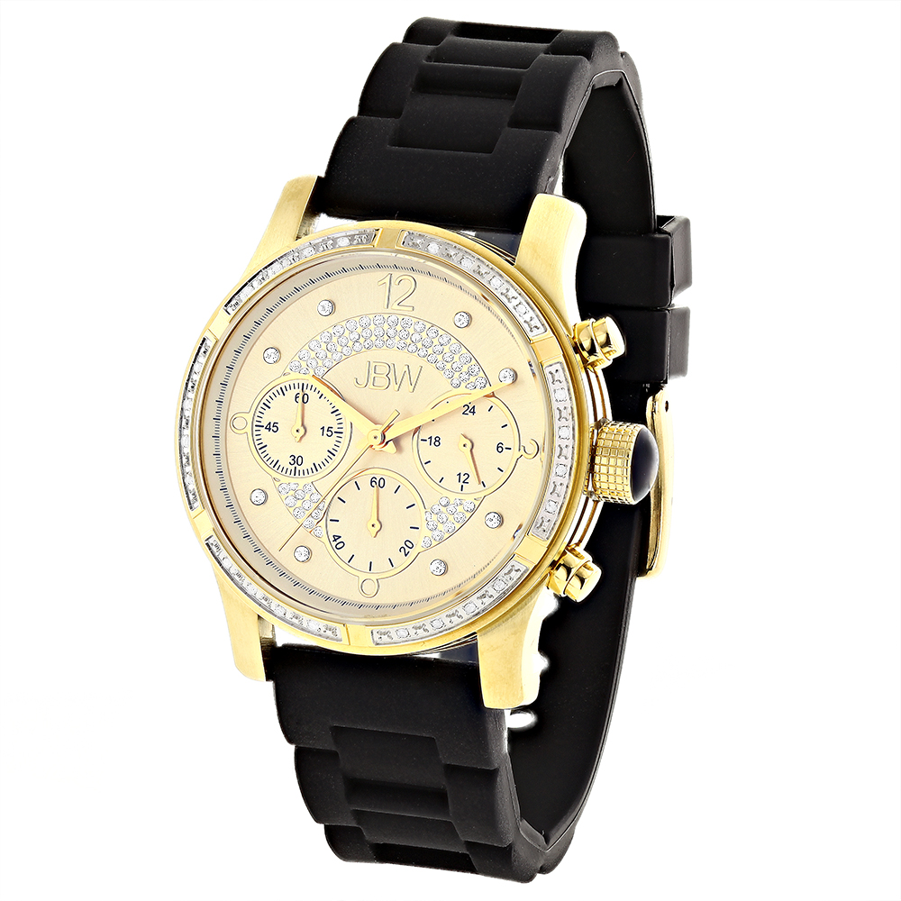 JBW Ladies Diamond Watch Yellow Gold Plated Main Image