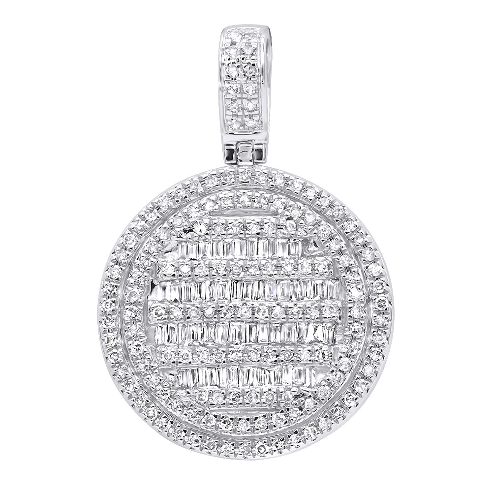 Luxurman High Fashioned Diamond Round Pendant for Women in 14K gold 0.8CT White Image
