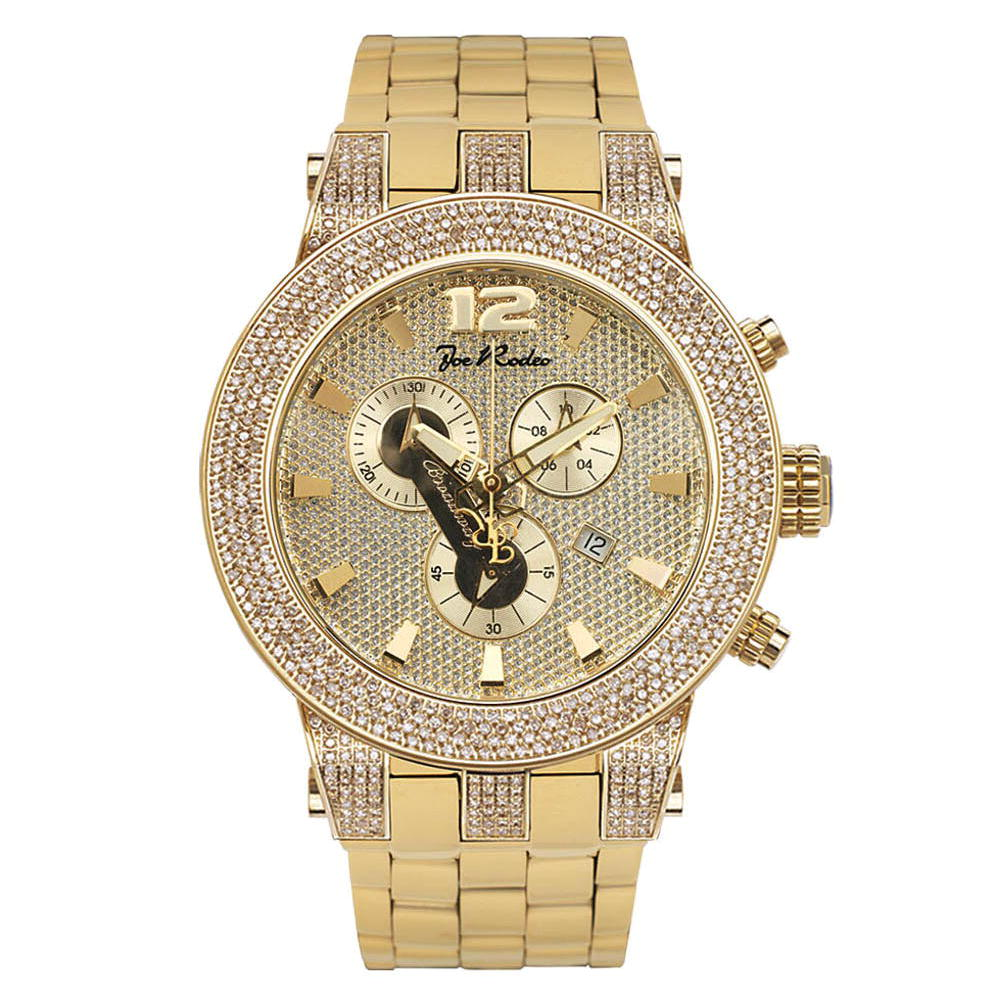Joe Rodeo Broadway 5ct Men's Diamond Rose Goldtone Watch Main Image