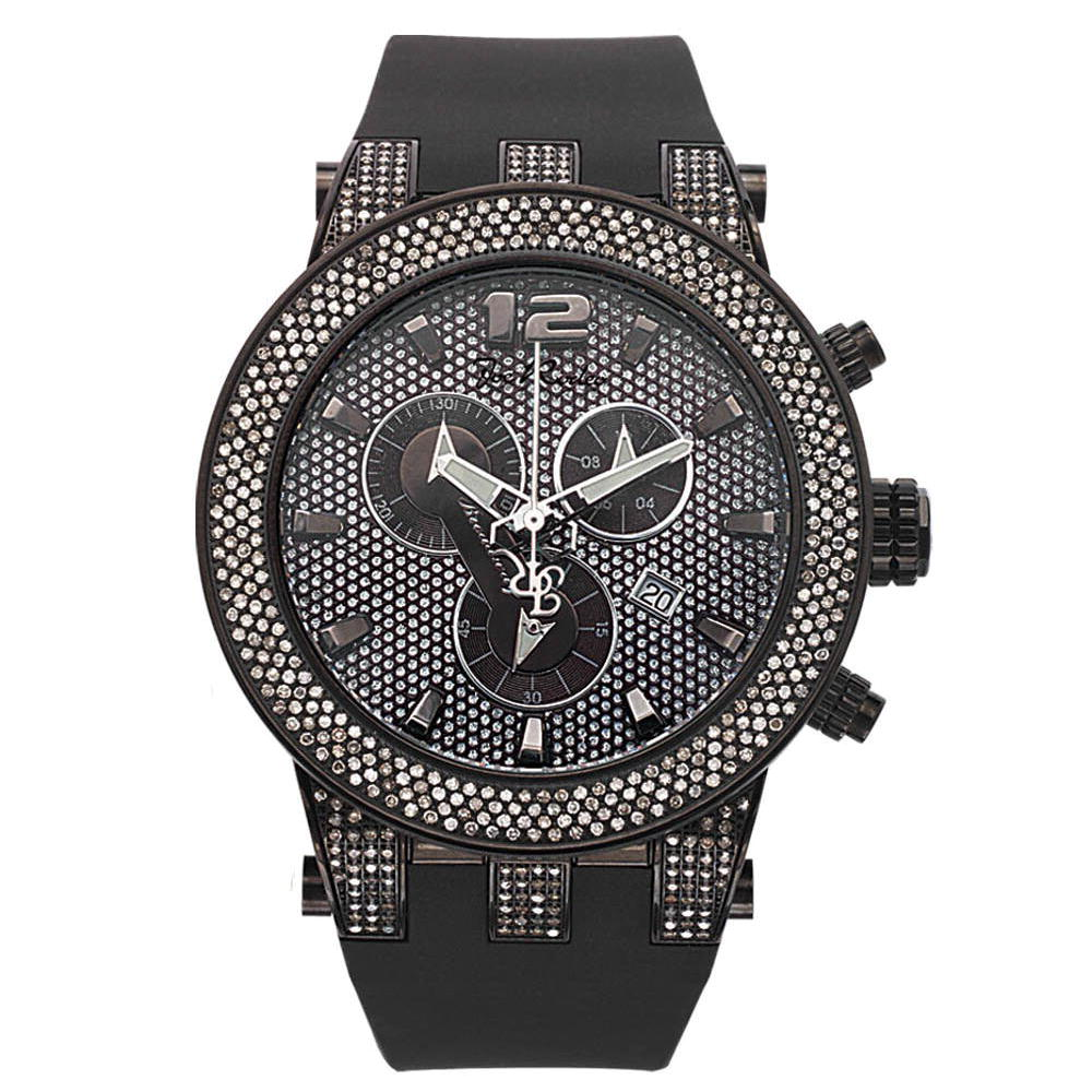 Joe Rodeo Broadway Black Mens Diamond Watch 5ct Main Image