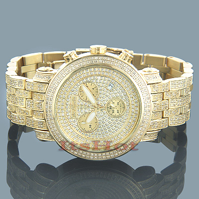 Joe Rodeo Classic Mens Diamond Watch 3.75ct Yellow Main Image