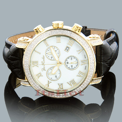 Joe Rodeo Diamond Watch 1.75ct White MOP Yellow Gold Main Image