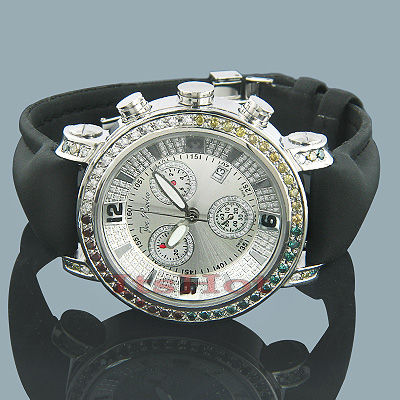 Joe Rodeo JoJo Diamond Watch 3.50ct White Yellow Blue Main Image