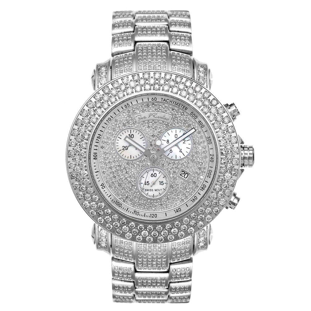 Joe Rodeo Junior Fully Iced Out Diamond Watch 21ct Main Image