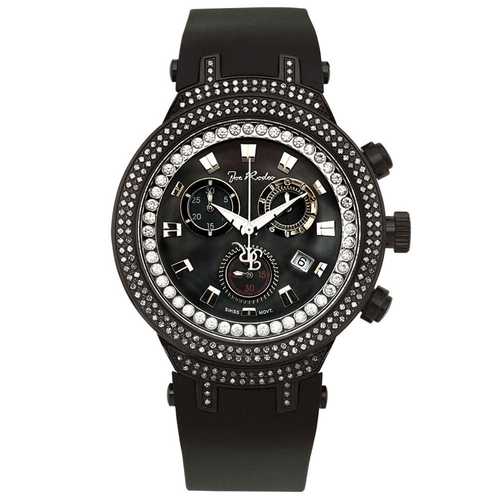 Joe Rodeo Master Mens Diamond Watch 2.20ct Black Main Image