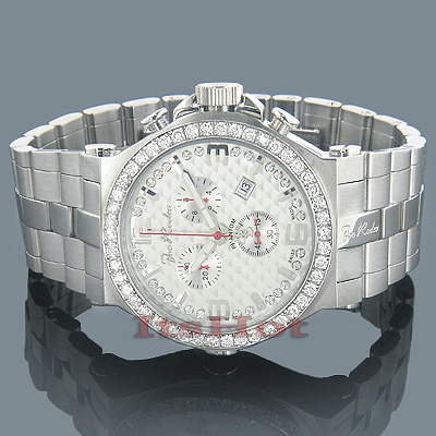 Joe Rodeo Mens Diamond Watch 3.25ct Silver Phantom