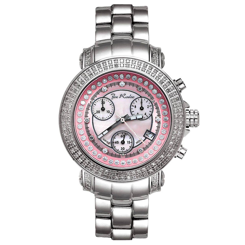 Joe Rodeo Rio Womens Diamond Watch 1.25ct Pink MOP Main Image
