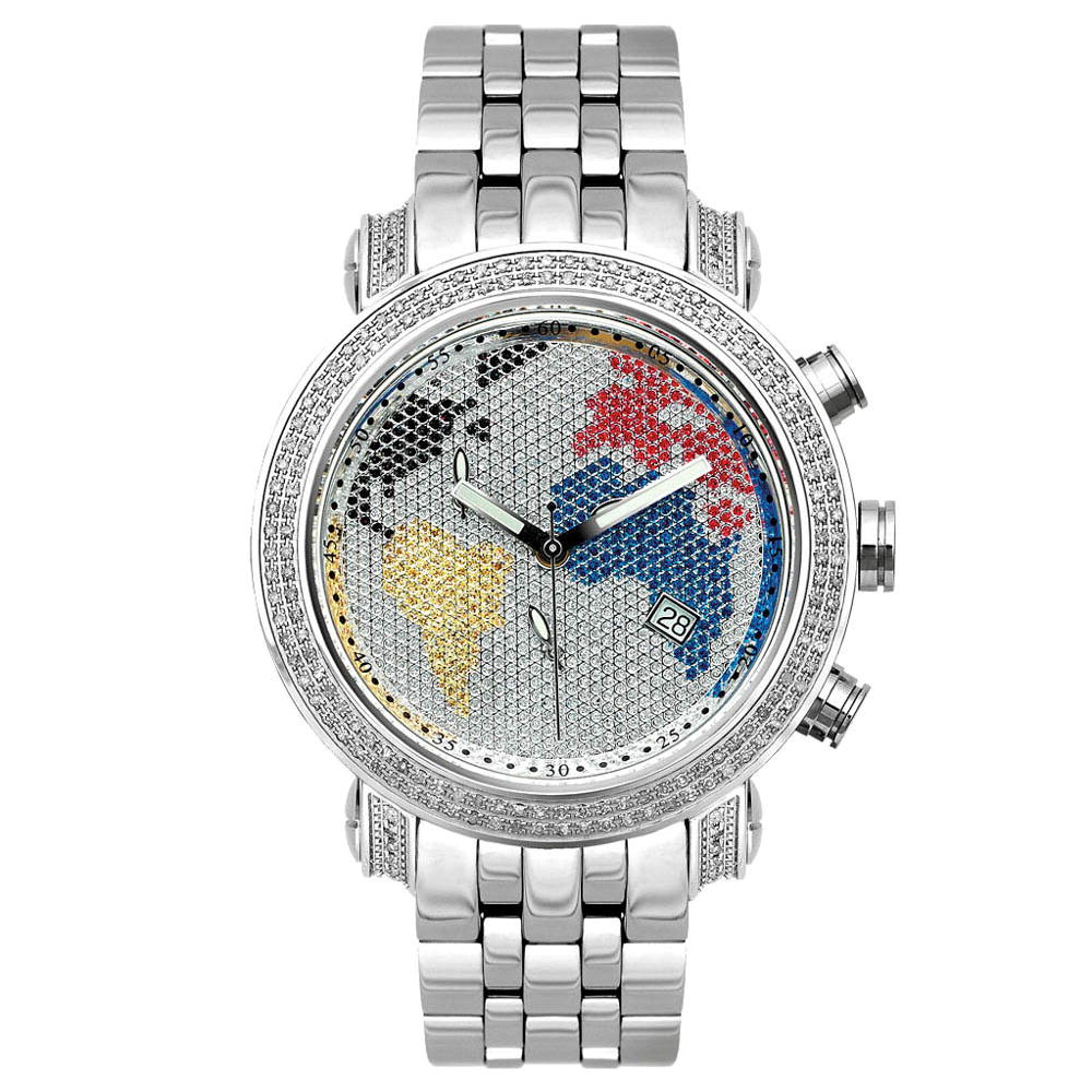Joe Rodeo Watch - Tyler World Map, 2.00ct White Case Main Image