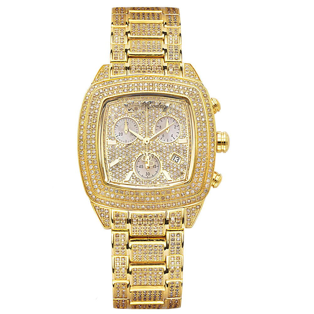 JOE RODEO Watches: Yellow Chelsea Iced Out Watch 13ct Main Image
