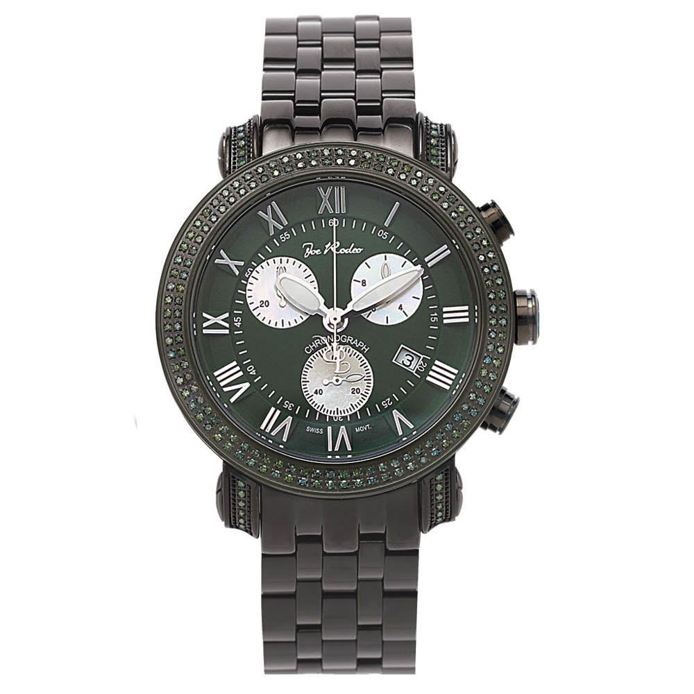 Joe Rodeo Watches: Green Diamonds Watch for Men 3.50t Classic Main Image