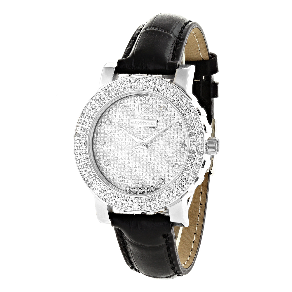 Joe Rodeo Watches: JoJino Womens Diamond Watch with Floating Crystals Main Image