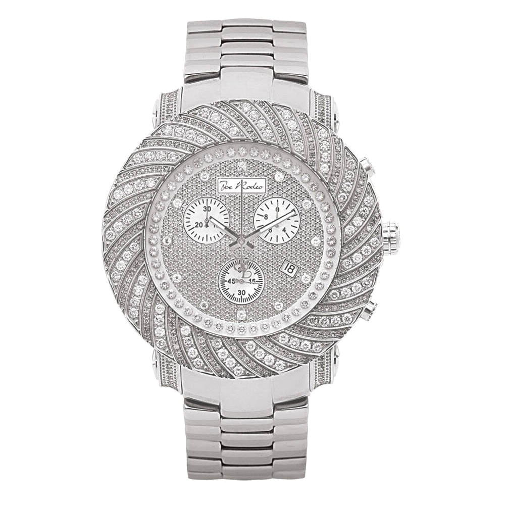 Joe Rodeo Watches: Mens Diamond Watch 4.25ct Junior Main Image