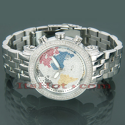 Joe Rodeo World Map Continents Diamond Watch 1.75ct Main Image