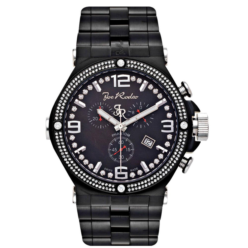 JoJo Joe Rodeo Phantom Mens Diamond Watch 2.25ct Black Main Image