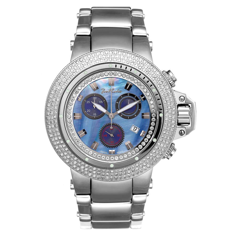 JoJo Joe Rodeo Razor Mens Diamond Watch 4ct Blue Main Image