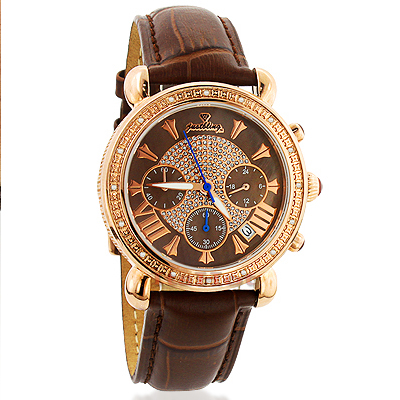 Justbling Victory Womens Diamond Watch Rose Gold Plated JB-6210 Main Image