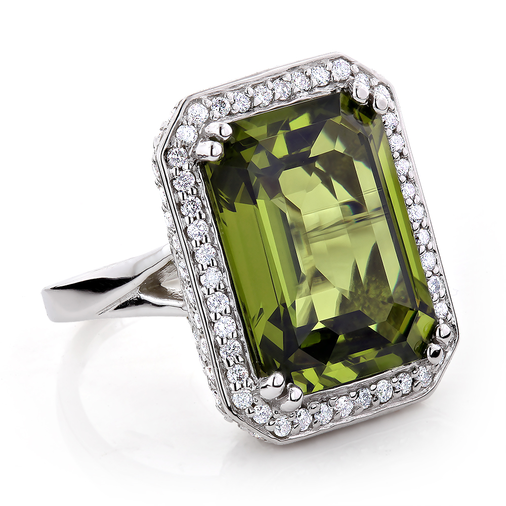 Ladies 14K Gold Peridot Quartz Gemstone Diamond Cocktail Ring 1.75ct ladies-14k-gold-peridot-quartz-gemstone-diamond-cocktail-ring-175ct_1