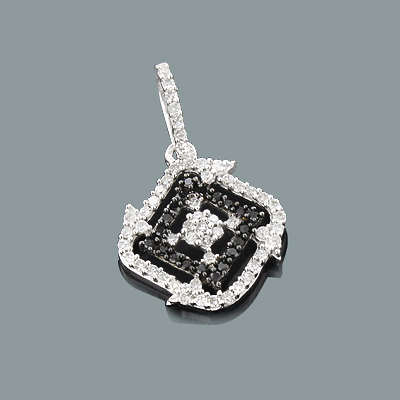 Ladies Black and White Diamond Pendant 0.28ct 14K Gold Main Image