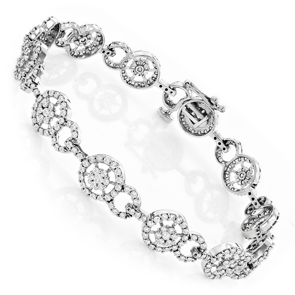 Ladies Bracelets 14K Gold Diamond Circle Bracelet 4.83 White Image