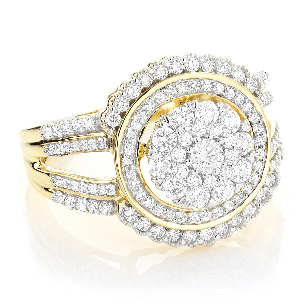 Ladies Designer Diamond Ring 1.21ct 10K Gold  Yellow Image