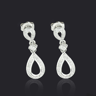 Ladies Diamond Drop Earrings 0.28ct 10K Gold  ladies-diamond-drop-earrings-028ct-10k-gold_1