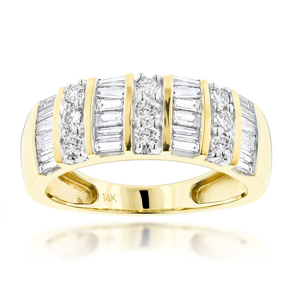 Ladies Diamond Rings 14k Gold Diamond Ring 1.57ct Yellow Image